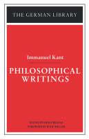 Philosophical Writings - German Library S. Vol 13 (Paperback)