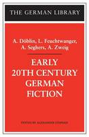 Early 20th Century German Fiction - German Library S. v.67 (Paperback)