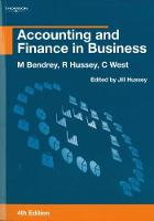 Accounting and Finance in Business (Paperback)