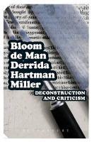 Deconstruction and Criticism - Continuum Impacts (Paperback)