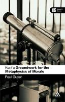 Kant's Groundwork for the Metaphysics of Morals: A Reader's Guide - A Reader's Guides (Paperback)
