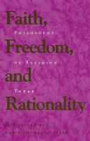 Faith, Freedom, and Rationality: Philosophy of Religion Today (Paperback)