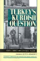 Turkey's Kurdish Question - Carnegie Commission on Preventing Deadly Conflict (Hardback)