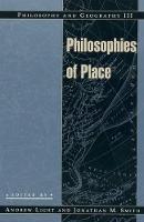 Philosophy and Geography III: Philosophies of Place - Philosophy and Geography (Hardback)