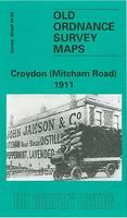Croydon (Mitcham Road) 1911: Surrey Sheet 14.05 - Old Ordnance Survey Maps of Surrey (Sheet map, folded)