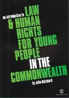 An Introduction to Law and Human Rights for Young People in the Commonwealth (Paperback)