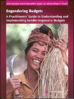 Engendering Budgets: A Practitioners' Guide to Understanding and Implementing Gender-responsive Budgets - New Gender Mainstreaming Series on Development Issues (Paperback)
