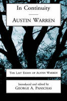 In Continuity: Last Essays of Austin Warren (Hardback)