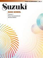 Suzuki Bass School Piano Acc., Volume 3 (Revised)