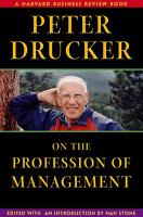 Peter Drucker on the Profession of Management - Harvard Business Review Book Series (Hardback)