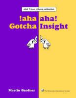 Aha! A Two Volume Collection: Aha! Gotcha Aha! Insight - Spectrum S. (Hardback)