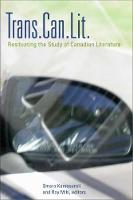 Trans.Can.Lit: Resituating the Study of Canadian Literature (Paperback)