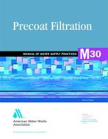M30 Precoat Filtration - Manual of Water Supply Practices (Paperback)