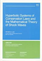 Hyperbolic Systems of Conservation Laws and the Mathematical Theory of Shock Waves - CBMS-NSF Regional Conference Series v. 11 (Paperback)
