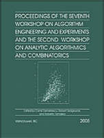 Proceedings of the Seventh Workshop on Algorithm Engineering and Experiments and the Second Workshop on Analytic Algorithmics and Combinatorics (ALENEX/ANALCO) (Paperback)