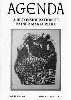 A Reconsideration Of Rainer Maria Rilke: Vol 42 / 3-4 (Paperback)