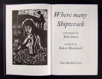 Where Many Shipwrack: A Selection of Early Poems (Hardback)