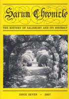 Sarum Chronicle: v. 7