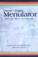 Menulator: German-English (Paperback)