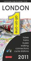 London All-on-one 2011: Tubes, Trains, Buses, Walking, Connections and Cycle Stations - All-on-One (Sheet map, folded)