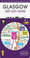 Glasgow All-On-One Map: Walk Cycle Bus Train Taxi Subway and City Centre - All-on-One (Sheet map, folded)
