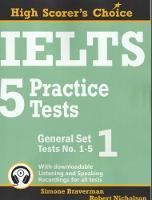 IELTS 5 Practice Tests, General Set 1: Tests No. 1-5 - High Scorer's Choice 2 (Paperback)