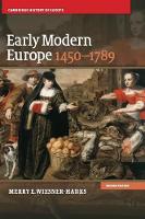 Early Modern Europe, 1450-1789 - Cambridge History of Europe (Hardback)