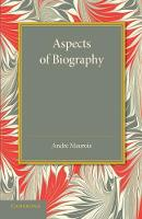Aspects of Biography (Paperback)