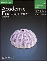 Academic Encounters Level 1 2-Book Set (Student's Book Reading and Writing and Student's Book Listening and Speaking with DVD): The Natural World