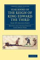 Year Books of the Reign of King Edward the Third - Year Books of the Reign of King Edward the Third 15 Volume Set Volume 8 (Paperback)