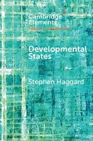 Elements in the Politics of Development: Developmental States (Paperback)