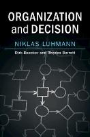 Organization and Decision (Hardback)