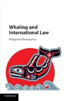 Whaling and International Law (Paperback)