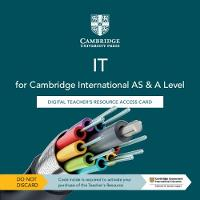 Cambridge International AS & A Level IT Digital Teacher's Resource Access Card (Digital product license key)