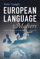 European Language Matters: English in Its European Context (Paperback)