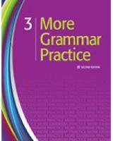 More Grammar Practice 3: More Grammar Practice 3 Student Book (Paperback)