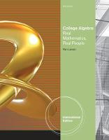 College Algebra: Real Mathematics, Real People, International Edition (Paperback)