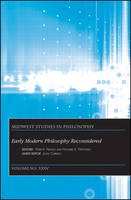 Early Modern Philosophy Reconsidered - Midwest Studies in Philosophy (Paperback)