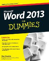 Word 2013 For Dummies (Paperback)