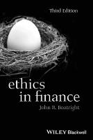 Ethics in Finance - Foundations of Business Ethics (Paperback)