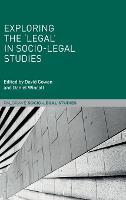 Exploring the 'Legal' in Socio-Legal Studies - Palgrave Socio-Legal Studies (Hardback)