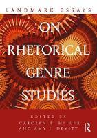 Landmark Essays on Rhetorical Genre Studies - Landmark Essays Series (Paperback)