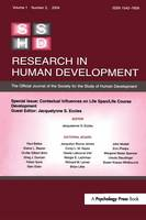 Contextual Influences on Life Span/life Course: A Special Issue of Research in Human Development (Hardback)