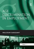 Age Discrimination in Employment (Paperback)