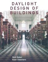 Daylight Design of Buildings: A Handbook for Architects and Engineers (Hardback)