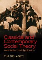 Classical and Contemporary Social Theory: Investigation and Application (Hardback)