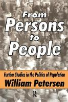 From Persons to People: A Second Primer in Demography (Paperback)