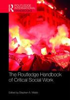 The Routledge Handbook of Critical Social Work - Routledge International Handbooks (Hardback)