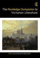 The Routledge Companion to Victorian Literature - Routledge Literature Companions (Hardback)