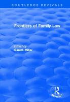 Frontiers of Family Law (Hardback)